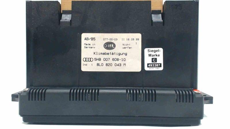 Heizungsbetätigung Klimabedienteil AUDI A3 (8L1) 1.9 TDI