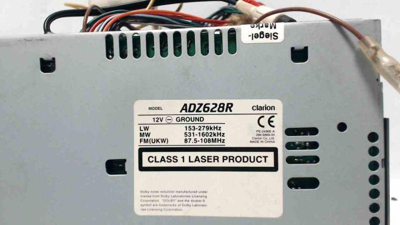 CD-Radio ADZ628R Clarion mit Kassettenteil - GebrauchspurenKIA CARNIVAL II (GQ) 2.9 CRDI